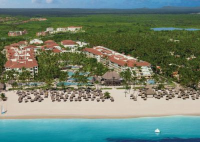 Aerial View of the all inclusive hotel Now Larimar in Punta Cana, Dominican Republic