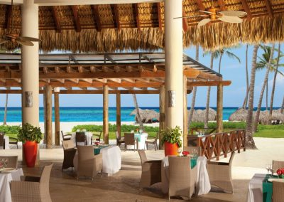Castaway Buffet Restaurant by the beach of the all inclusive hotel Now Larimar in Punta Cana, Dominican Republic