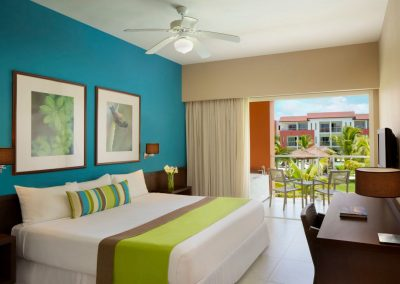 Deluxe Garden View Room at the all inclusive hotel Now Larimar in Punta Cana, Dominican Republic
