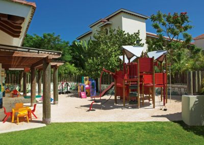 Playground for children in the Explorers Club at the all inclusive hotel Now Larimar in Punta Cana, Dominican Republic