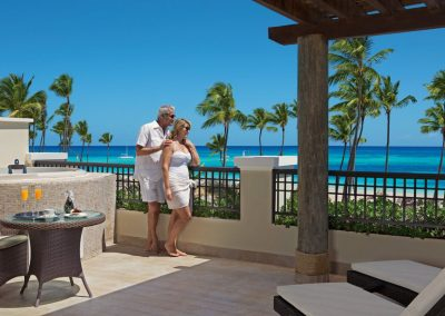 Ocean Front Balcony of a Master Suite at the all inclusive hotel Now Larimar in Punta Cana, Dominican Republic