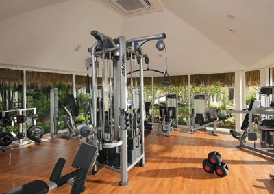 Gym at the all inclusive hotel Now Larimar in Punta Cana, Dominican Republic