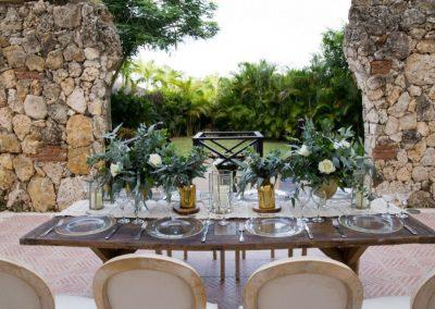 Wedding reception at the all-inclusive hotel Dreams Punta Cana in the Dominican Republic
