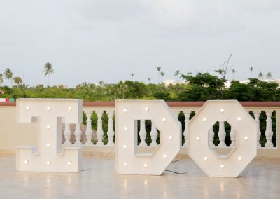 I DO - Wedding reception on the terrace of the all-inclusive hotel Dreams Punta Cana in the Dominican Republic