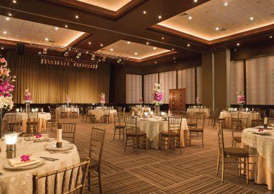 Ballroom wedding reception at the all inclusive hotel Hilton La Romana in Bayahibe, Dominican Republic