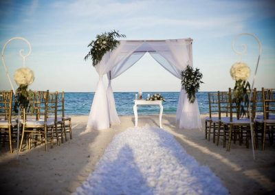 Beautiful beachfront ceremony at the all inclusive hotel Now Larimar in Punta Cana, Dominican Republic