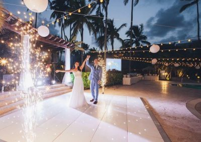 Destination wedding party at the all inclusive hotel Now Larimar in Punta Cana, Dominican Republic