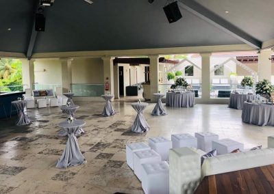 Wedding cocktail and dinner reception at the all inclusive hotel Now Larimar in Punta Cana, Dominican Republic