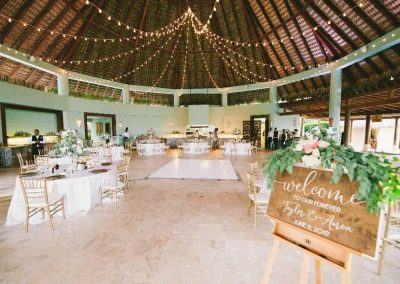 Beautiful wedding reception in a private restaurant of the all inclusive hotel Now Larimar in Punta Cana, Dominican Republic