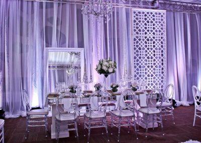 Elegant ballroom wedding reception at the all inclusive hotel Now Larimar in Punta Cana, Dominican Republic