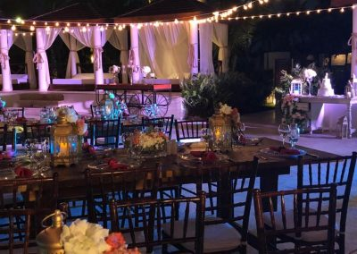 Wedding dinner reception at the all inclusive hotel Now Larimar in Punta Cana, Dominican Republic