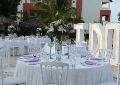 Topical garden reception at the all inclusive hotel Now Larimar in Punta Cana, Dominican Republic