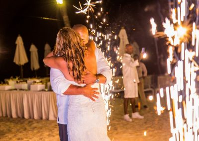 First dance with sparkles at the all-inclusive hotel Dreams Dominicus La Romana in Bayahibe