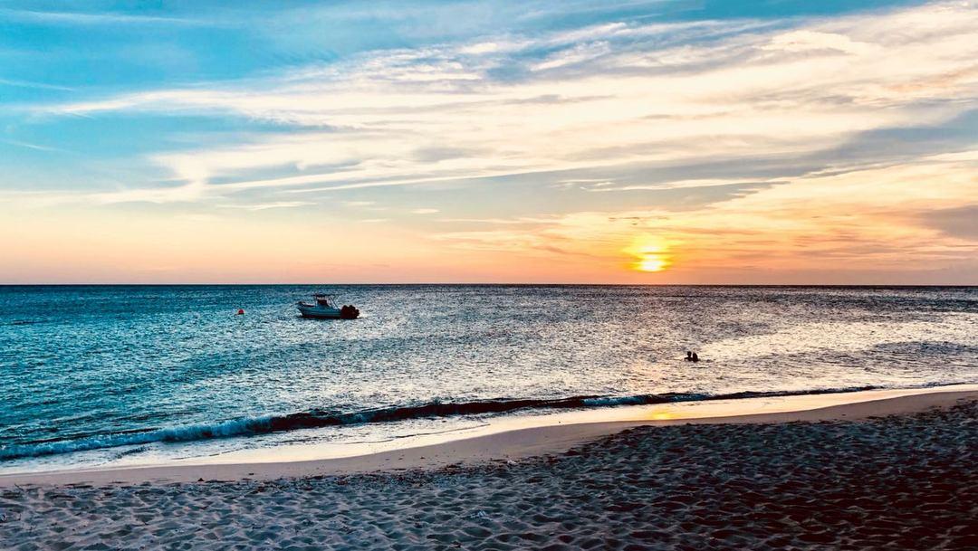 Stunning sunset at Bahía de las Águilas