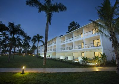 Hotel buildings of the all-inclusive hotel Viva Wyndham V Samana (Adults Only) in Las Terrenas, Dominican Republic