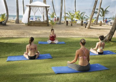 Yoga lessons at the all-inclusive hotel Viva Wyndham V Samana (Adults Only) in Las Terrenas, Dominican Republic