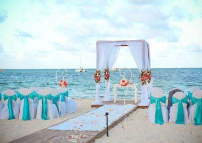Beachfront destination wedding at the all inclusive hotel Now Larimar in Punta Cana, Dominican Republic
